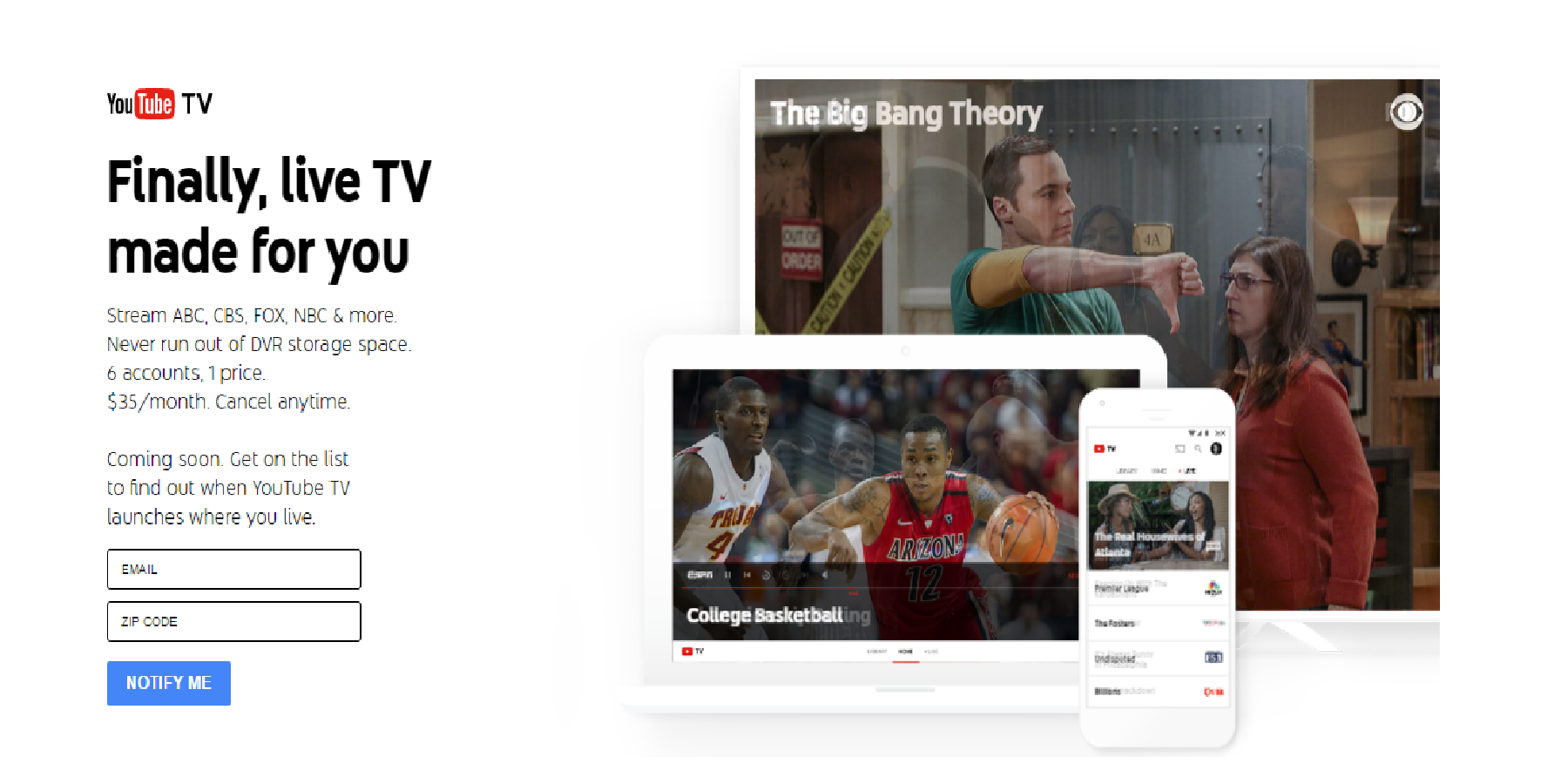 YouTube TV Launches to Compete Directly With Cable TV